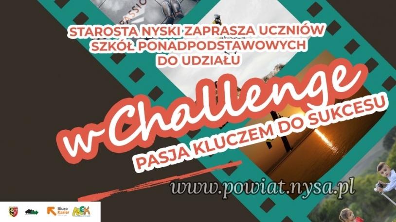"""CHALLENGE """"PASJA KLUCZEM DO SUKCESU"""" Kliknięcie w obrazek spowoduje wyświetlenie jego powiększenia"""